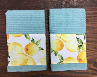 Lemon Towels -tea towels- hand towels -