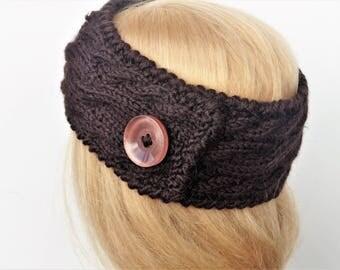 Alpaca Wool Ear Warmer,Ear Warmer Headband, Knitted Ear Warmer, Knitted Head Band, Turban Style Headband,Wool Ear Warmer,Winter Headband
