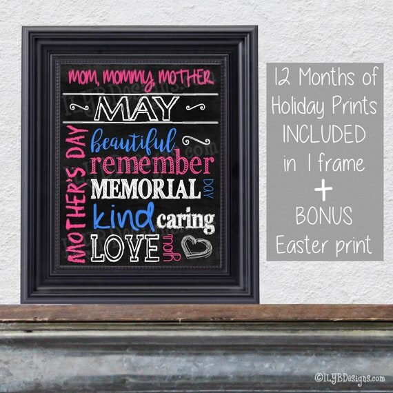 Mothers day gift picture frame mothers day art mother in law gift il570xn negle Images