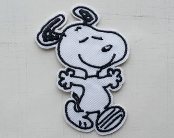 5 x 7 cm, Dancing Snoopy Iron On Patch