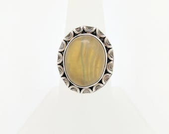 Ladies Sterling Silver Rutilated Quartz Ring Size 7