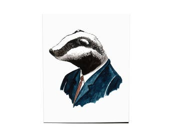 Dapper Badger Print