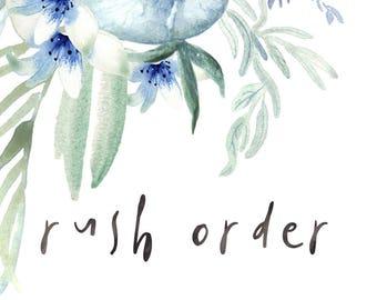 Rush order for Krystal