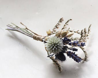 Buttonhole - Blue Moon - Dried Flowers