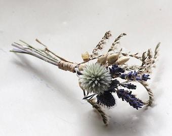 Buttonhole - Blue Moon - Dried Flowers