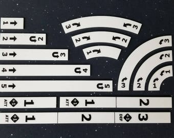 Full Set of Acrylic Templates and Range Rulers for use with X-wing