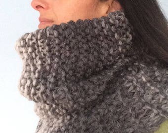 PATTERN PDF Knitted Giant tube cowl, tutorial for a chunky scarf pattern, do it yourself, giant knitted scarf pattern, chunky tube scarf