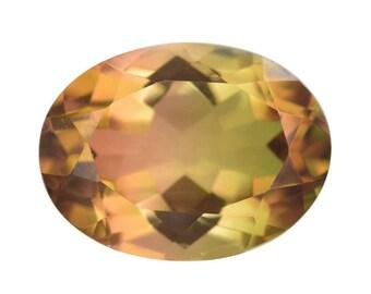 Olive Triplet Quartz Oval Cut Loose Gemstone 1A Quality 16x12mm TGW 9.80 cts.