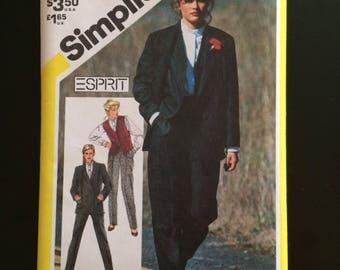 1982 Simplicity Pattern # 5653, Misses Size 12, Esprit Suit, Uncut