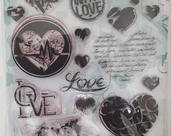 Joy crafts Sending Love clear stamp set