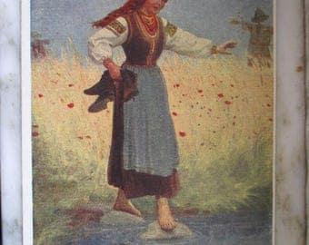 Vintage Polish Postcard - Surprise by A. Manastyrski