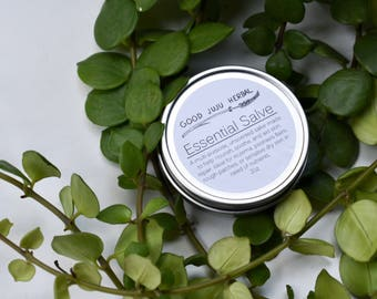 Essential Salve, Unscented, Eczema, Calendula, Lavender, Psoriasis, Evening Primrose, Sensitive Skin, Helichrysum, Hand and Body Salve