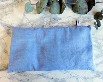 Bouillotte sèche bleue -pour petits et grands - chaleur et réconfort - housse lavable- réutilisable- Bien-être- cocooning - Chaleur douce