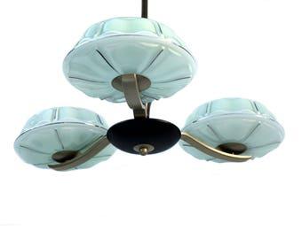 Art Deco three-light Chandelier