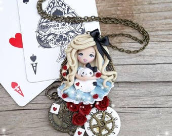 Ooak Doll Alice Cameo Necklace