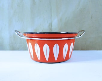 Cathrineholm, Norway Orange Lotus Pan / Casserole Dish