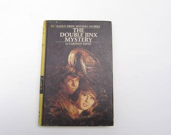 Nancy Drew The Double Jinx Mystery, Vintage Nancy Drew The Double Jinx Mystery, Nancy Drew, 1970s Nancy Drew book, 1970s Nancy Drew