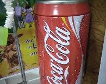 Coke Metal Bank - 10 inches tall