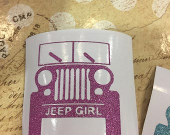 Jeep Decal, Girl Jeep, Hot Pink Jeep Decal, Monogram, Car Decal, Laptop Decal, Vinyl Lettering Jeep Decal