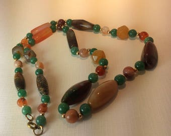 Vintage Semiprecious Stone Necklace