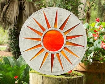 Bright Orange Sun Stepping Stone #530