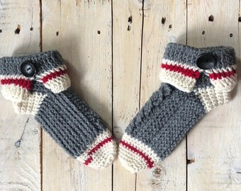 Womens slippers, crochet slipper socks, slipper socks, sock monkey slippers, sock monkey slipper socks, work sock slippers