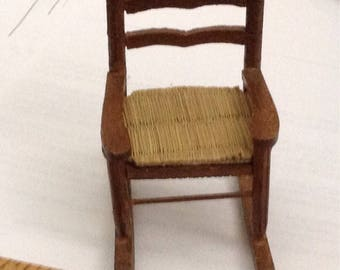 Vintage Wooden Rocking Chair  Dollhouse