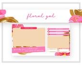 Premade Pink Youtube Banner | Youtube Channel Art | Fashion Vlog Design | Beauty Vlog Design | Pink Gold Logo | Pink Gold Branding Design