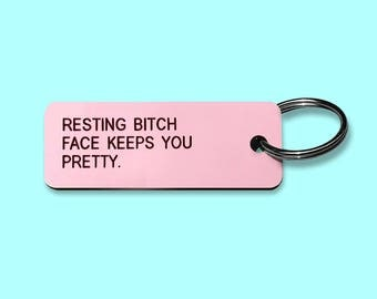 RBF Keeps You Pretty | Rosé Pink Key Tag Key Chain