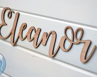 Personalized Wood Cut Sign - Wood Nursery Name Cut Out - Custom Name Sign - Wood Cutout Signage - Birthday Sign - Wedding Signs - Baby Decor