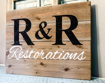 Custom Business Sign - Custom Wood Logo Sign - Business Signage - Business Sign Outdoor - Business Sign Office - Custom Business Logo Sign