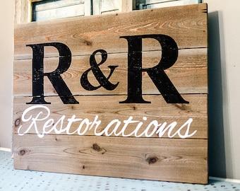 Custom Business Sign - Custom Wood Logo Sign - Business Signage - Business Sign Outdoor - Business Sign Office - Custom Business Logo Sign