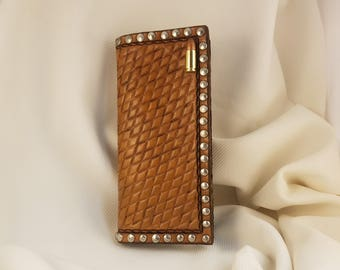 Roper Wallet With Bullet Concho and Diamond Geometric Design