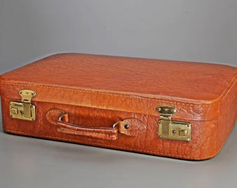 """50s small leather case, Brown """"SIPRA"""""""