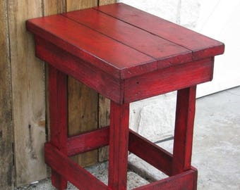 Sale Medium RED End Table, Side Table, Nightstand, Other colors available!!