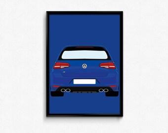 Volkswagen Golf R A3 Print