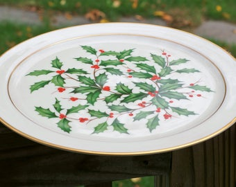 Lenox Holiday China Christmas Round Chop Plate Serving Platter