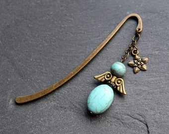 Bookmark Protection Angel Turquoise