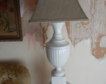 Tall White Ceramic Urn Lamp!