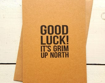 Good Luck Card - Funny Leaving Card - New Home Card - New Job Card - Moving Cards - Leaving Card - Funny Friend Card - Best Friend Card