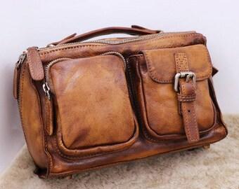 Leather Satchel, Messenger Bag,Brown Satchel, Brown Leather Bag, Briefcase, School Bag, Leather Purse, Work Bag, Leather Crossbody Bag