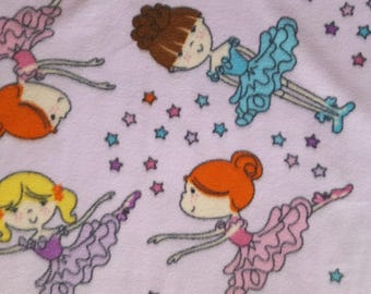 Ballerina Dance Fleece Fabric Sold by the Yard