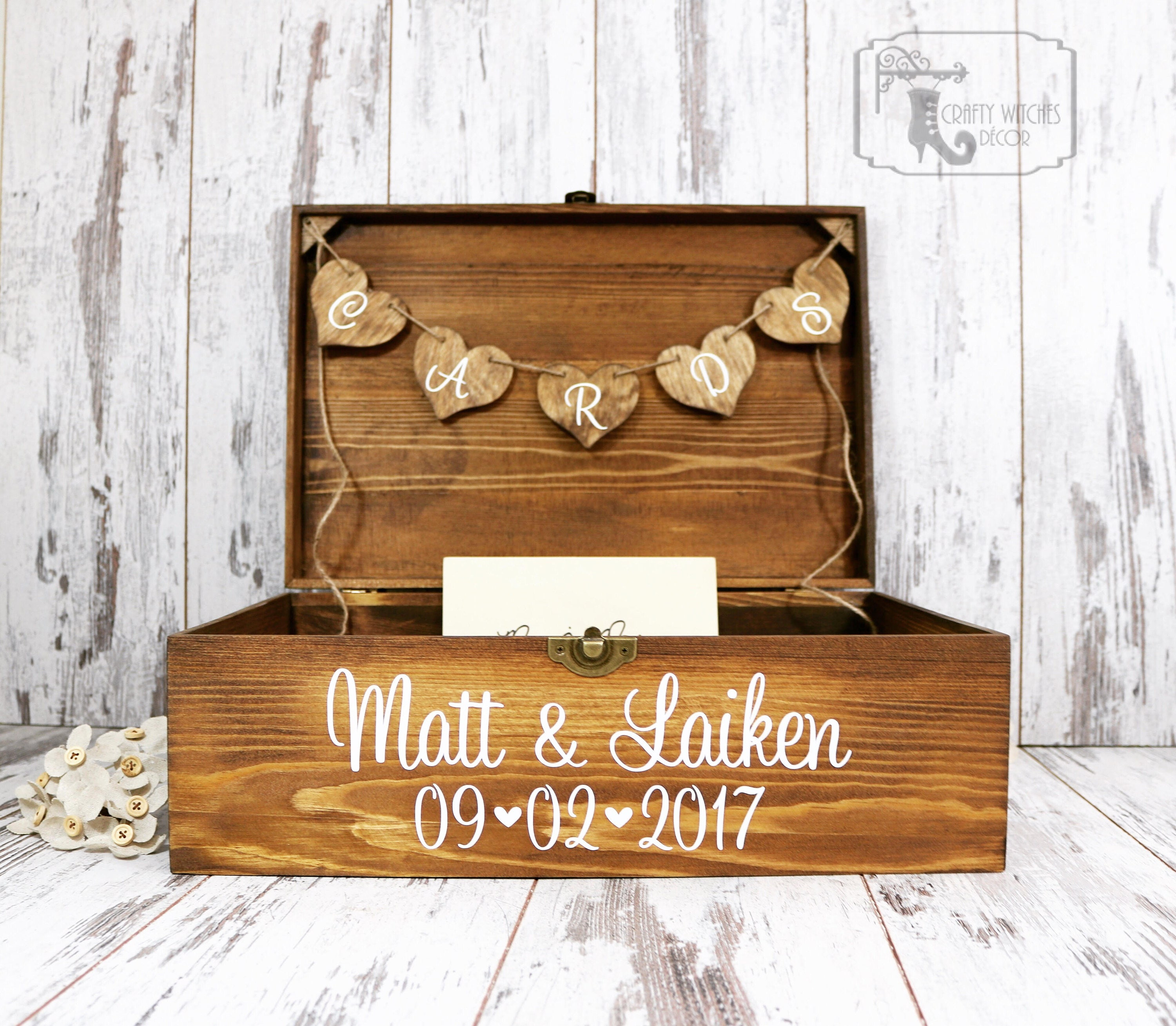 Personalized Stained Wedding Card Box, Personalized Wedding Card ...