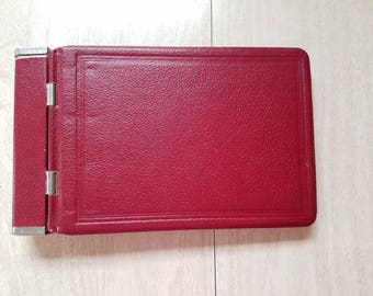 Vintage Red Ledger/Address Book Stainless Steel Hinges