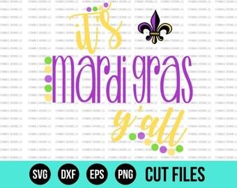 Mardi Gras SVG - SVG Files - DXF - Cricut Cut Files - Silhouette Cut Files - Mardi Gras Cut Files - Fat Tuesday - Cuttable Files