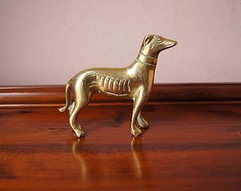 Vintage brass dog.