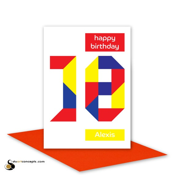 Personalised 18th birthday card for boy for girl edit name 18 – 18th Birthday Cards for Boys