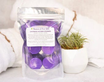 Shower Steamers - Relaxing Gifts For Women - Christmas Gifts For Her - Shower Fizzy - Shower Bombs - Lavender Shower Bomb - Relaxing Gift