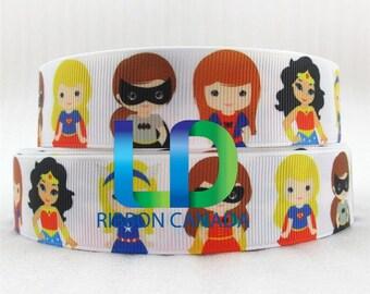 """1"""" Super Girl Grosgrain Ribbon"""