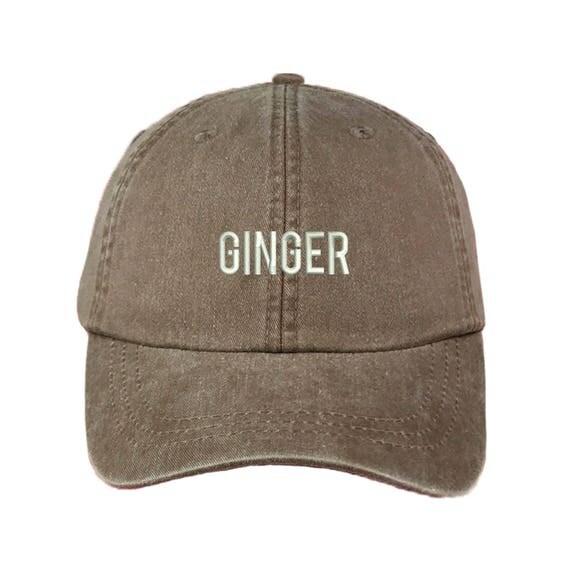 GINGER Washed Dad Hat |GINGER | Bonnie & Clyde | Ginger | Friends Hat | Best Friend Hat| Brownie Hat| Fashion Dad Hat | Dad Hats Tumblr